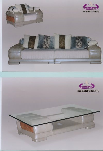 Link toLight-colored sofa and coffee table 3d model of business