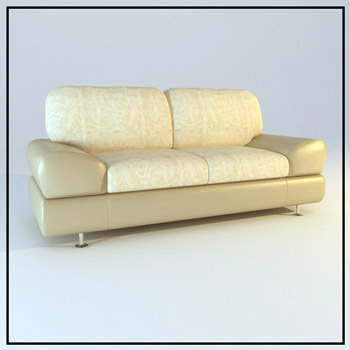 Link toLight comfortable double sofa 3d model