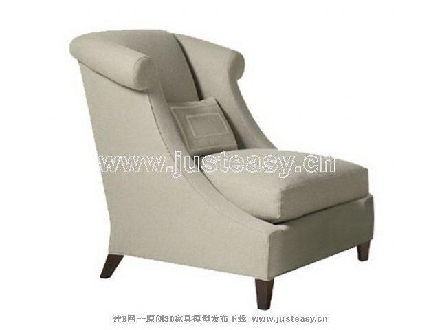 Link toLight gray back sofa 3d model (including materials)