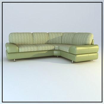 Link toLight green corner sofa 3d model