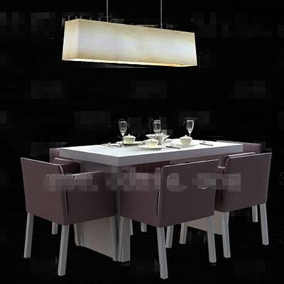Link toLight purple cozy dining table combination 3d model