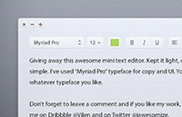 Link toLight text editor psd