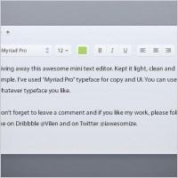 Link toLight text editor