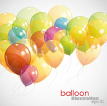 Link toLight the balloon background vector