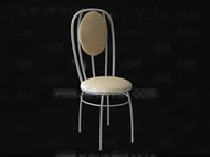Link toLight yellow round cushion chair 3d model
