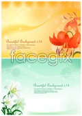 Link toLily flower background vector