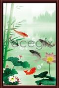Lily pond carps psd