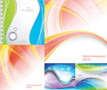 Link toLine curved background vector