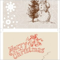 Link toLine drawing christmas cards vector