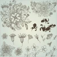 Link toLine drawing flower pattern vector