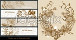 Link toLine drawing of flowers banner vector