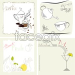 Link toLine drawing of fruit cups vector