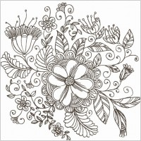 Link toLine drawing swirl flower pattern vector graphic