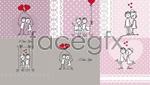 Link toLine release valentine illustration vector