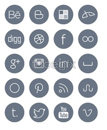 Link toLine style social media icons