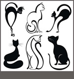 Link toLinear fashion cat vector