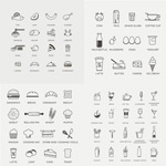 Link toLinear food icons vector