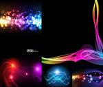 Link toLines and cool lighting effects vector