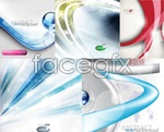 Link toLines backgrounds vector