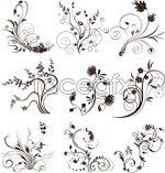 Link toLines curled squid pattern vector