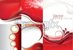 Lines red and white background vector