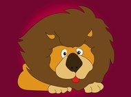 Lion character vector free