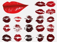 Lips prints vector free