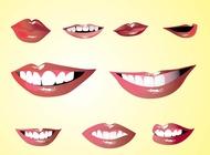 Lips set vector free