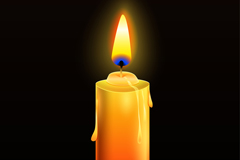 Link toLit a yellow candle vector