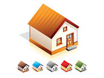 Link toLittle house icon vector