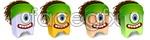 Link toLittle monster, one eyed monster vector
