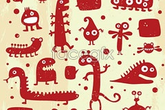 Link toLittle monster red graffiti in ai format vector