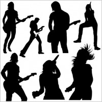 Link toLive music vector silhouettes
