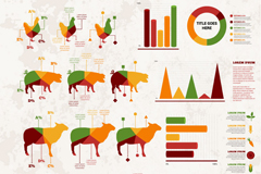 Link toLivestock products business information maps vector