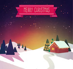 Link toLog cabin christmas cards vector