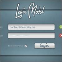 Link toLogin modal window psd