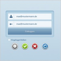 Link toLogin register box psd