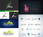 Logo graphic variants creative vector