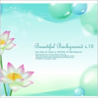 Link toLotus and water bubbles background vector