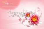 Link toLotus flower background psd