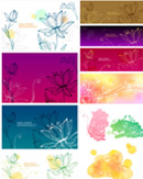 Link toLotus lines background vector