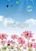 Link toLotus spring lilies psd