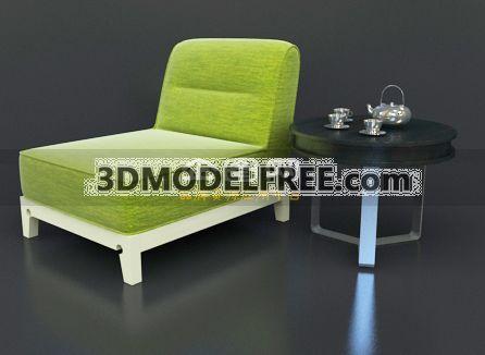 Link toLounge chair -apple green 3d model