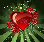 Link toLove and roses vector