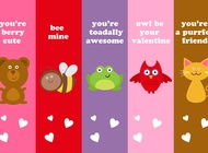Link toLove bookmarks vector free