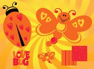 Link toLove butterfly vector free