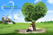 Link toLove child tree psd material