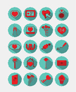 Link toLove element icon vector