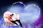 Link toLove eternal valentine's day cards psd