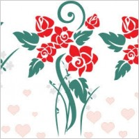Link toLove flowers vector